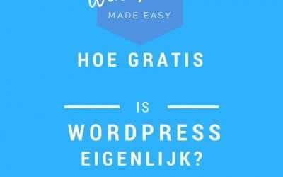 Hoe gratis is WordPress nou eigenlijk?