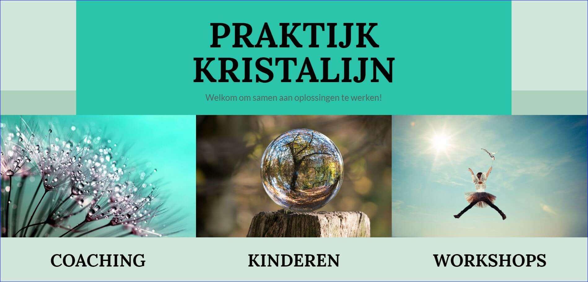praktijkkristalijn.nl - Website op maat voor coachingspraktijk kristalijn, Heemstede