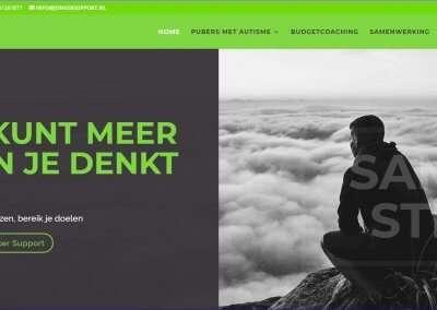 schermafdruk homepage website jonker support