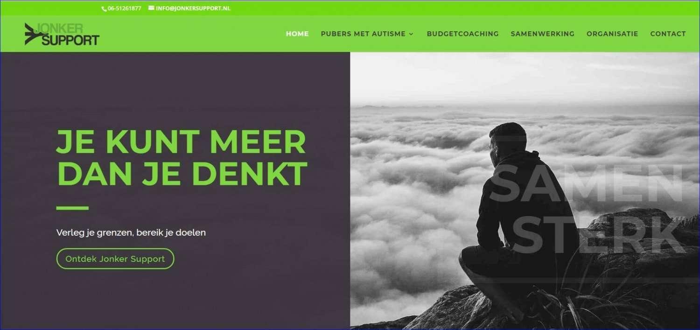 Jonker Support - De wens was een stoere , rustige website met groen