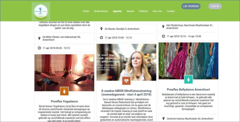 bewusteemland.nl - Ledenwebsite van Bewust Eemland ondernemersnetwerk met verschillende functionaliteiten