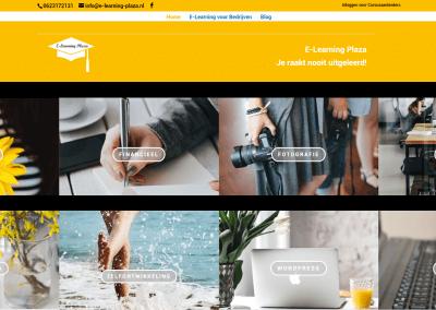 website laten maken amersfoort - voorbeeld van werk: afbeelding homepage e-learning plaza