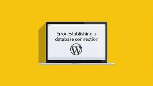 wordpress onderhoud amersfoort voorbeeld van scherm met database verbindingsfout