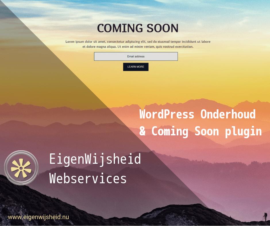 wordpress coming soon maintenance plugin voorbeeld van zo een pagina