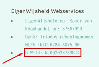 BTW-ID - 2020 verplicht vermelden voor eenpitters
