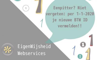BTW-ID – 2020 verplicht vermelden voor eenpitters