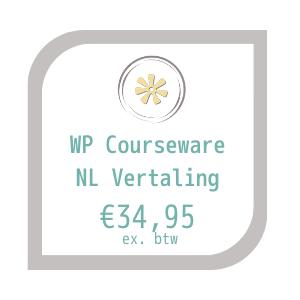 wp courseware nl vertaling productlabel met prijs: €34,95