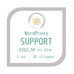 wordpress website support afbeelding met prijs €262,50 ex btw voor 5 uur support